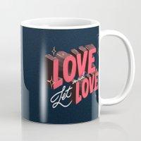 lesbian Mugs featuring Love & Let Love by Jillian Adel