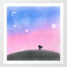 Searching for Hope in the Darkness Art Print