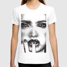 Makeup Model Portrait Photorealism Sketch T-shirt