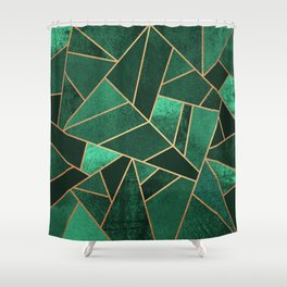 Emerald and Copper Shower Curtain