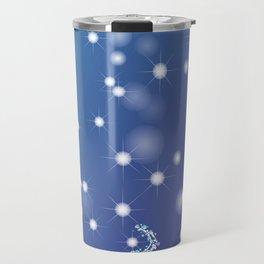 Christmas background with bokeh and snowflake Travel Mug