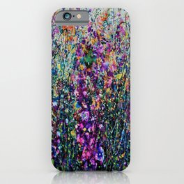Hollyhock Fantasy Pollock Inspired Abstract  iPhone Case