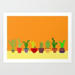 Cactus in Orange Art Print