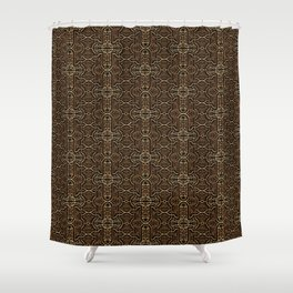 Ancient Pattern Gold Shower Curtain