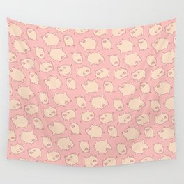 small pigs (pink) Wall Tapestry