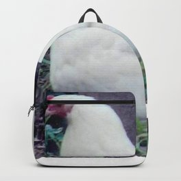 White Hen With Chicks Backpack