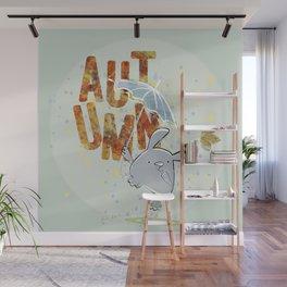 Hop, little bunny - autumn Wall Mural
