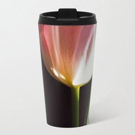 Macro pink tulip Travel Mug