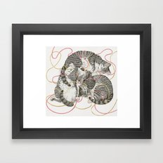 cats gold and rose Framed Art Print