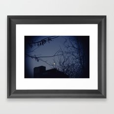 Highline Moon Framed Art Print