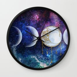 Celestial Ocean Moon Phases | Stay Wild Wall Clock