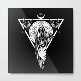 The Withering Crone Metal Print