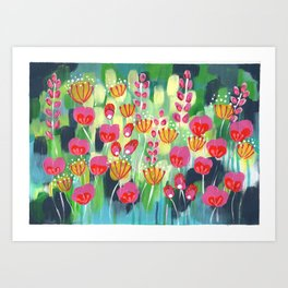 Frolicking In The Fields Art Print