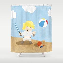 SW Kids - Luke at the Beach Shower Curtain