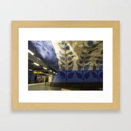 T-centralen tunnelbana station, Stockholm Framed Art Print