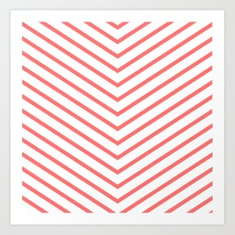 Red lines. Geometric design Art Print
