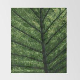 Tropical Leaf Throw Blanket