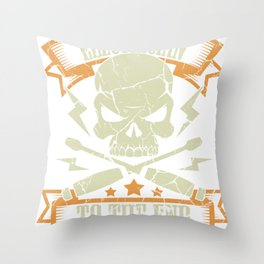 Electrician Gift Profession Electricity Strip Puller Throw Pillow