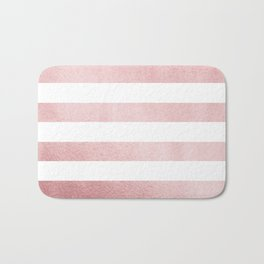 Simply Stripes in Rose Gold Sunset Bath Mat