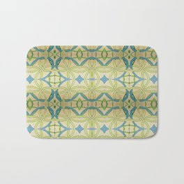 Blue Green Abstract Bath Mat