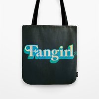 fangirl Tote Bags featuring Fangirl by Aaron Synaptyx Fimister