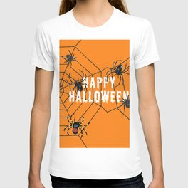 Happy Halloween Spider orange T-shirt