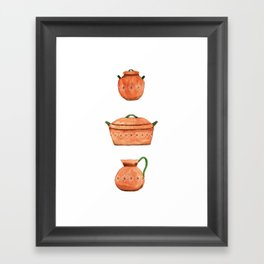 Mexican clay pots Framed Art Print