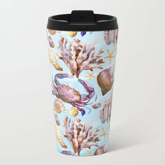 Marine Pattern 14 Metal Travel Mug
