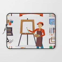 art tools set Laptop Sleeve