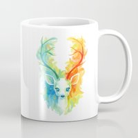 feather Mugs featuring Feather Fawn by Freeminds