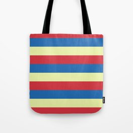 red blue cream stripes Tote Bag