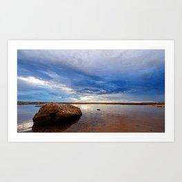 Rock Shelf at Narrabeen Headland Art Print