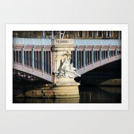 Lyon France Bridge Art Print