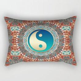 Bohemian Batik Yin Yang Rectangular Pillow