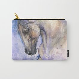 Horse on purple background Carry-All Pouch