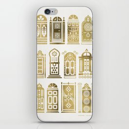 Moroccan Doors – Gold Palette iPhone Skin