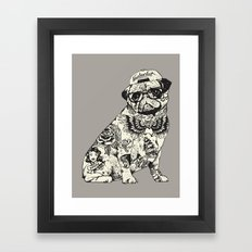 Pug Tattoo Framed Art Print