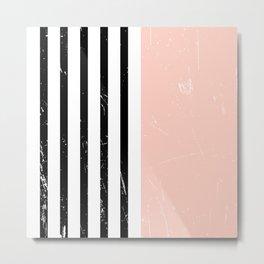 Minimalism Pattern | Blush | Millennial Pink | Modern | Geometric Metal Print