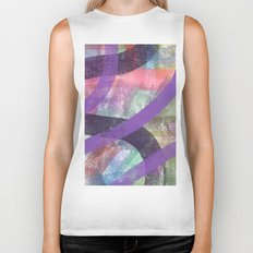 abstract color lines of seasons Biker Tank
