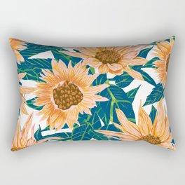 Blush Sunflowers Rectangular Pillow