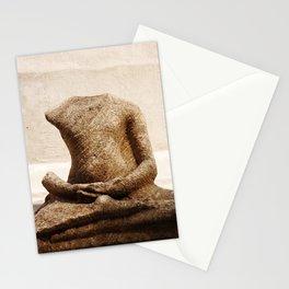 Broken Buddha Statue Stationery Cards