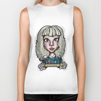 cancer Biker Tanks featuring Cancer by Gabriela Ash Illustrations