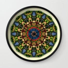 Nature Flower Mandala 006.1, Floral mandala-style Wall Clock