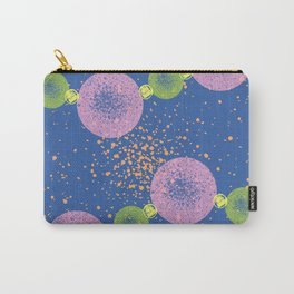 Beaded Planets Blue Carry-All Pouch
