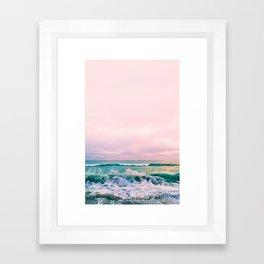 beach sunset photo Framed Art Print