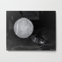 Keep Your Eye On The Ball Metal Print