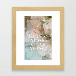 thunder roses Framed Art Print