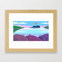 Fire Ants on the shoreline Eastport, Maine Framed Art Print