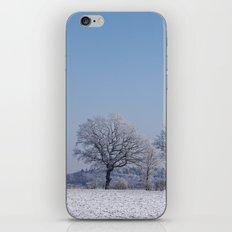 winter walk rural snow landscpape north Germany iPhone & iPod Skin