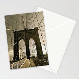 Brooklyn Bridge in Tone Stationery Cards